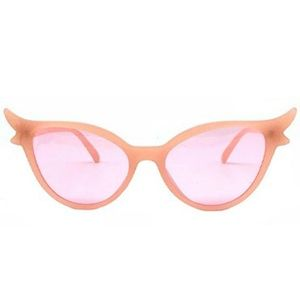 Accessories - Extreme Flair Cat Eye Sunglasses Peachy Pink